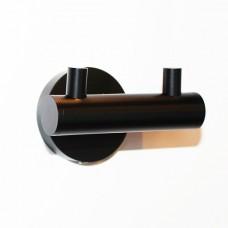 Двойной крючок (латунь, черный) для ванной в гостиничном номере | Hotek Hospitality Group